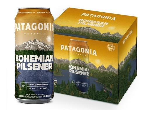 Cerveza Patagonia Bohemian Pilsener 473ml Pack X6 Latas