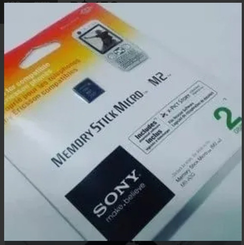 Kit Com 6 Memory Stick Sony Micro M2 2gb Ms-a2g/2nqt C/ Nfe