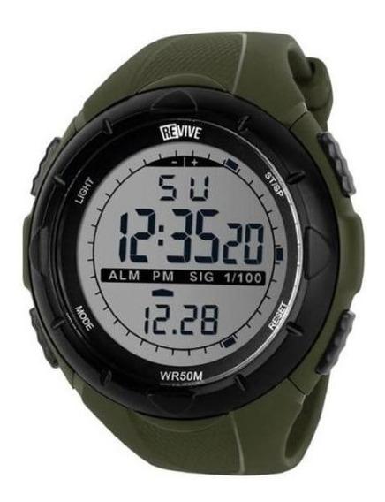 Reloj Revive Kr0712 Verde Hombre