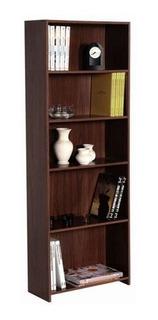 Biblioteca Librero Platinum 9013 Tabaco Repisa De 5 Estantes