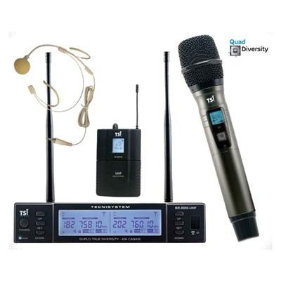 Microfone Sem Fio 600 Canais Br-8000 Cli Uhf - Tsi