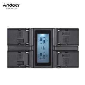 Andoer Np -f970 - Carregador Bateria W Câmera Digital 4 Cana