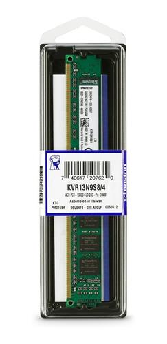 Memoria RAM 4GB 1x4GB Kingston KVR13N9S8/4 ValueRAM