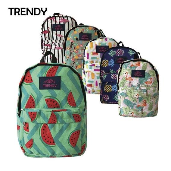 Mochila Urbana Outdoor Teen Trendy 8207 6 Colores Lona