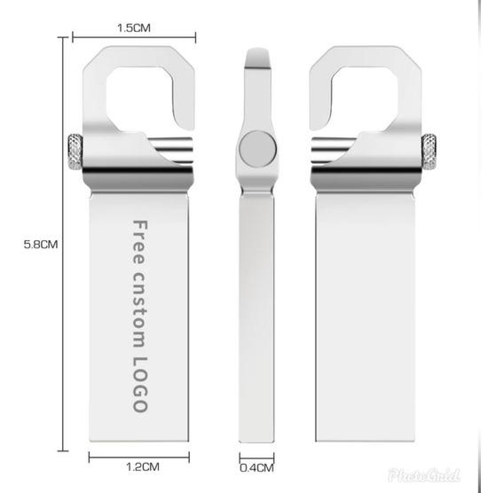 Pendrive Usb 128 Gb De Metal Resistente