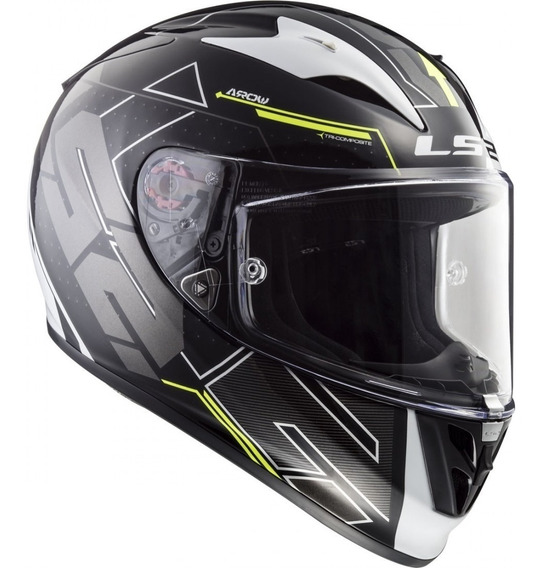Casco Moto Integral Ls2 323 Arrow R Evo Techno Yellow Yuhmak