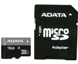 Cartão Memoria Micro Sd A-data 16gb + 1 Adpt. Class 10