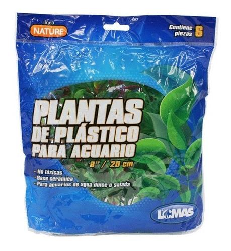 Plantas Para Acuario 20 Cm 6 Pz Pecera Peces