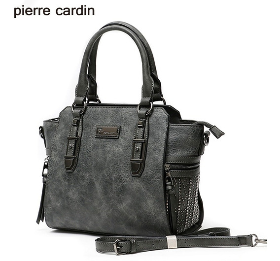 Cartera Pierre Cardin Pu Cuero C/ Microtachas - Art. 26359