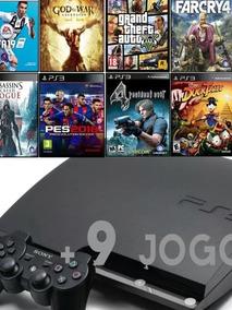 Console Playstation 3 Slim+ 9 Jogos Digitais Originais