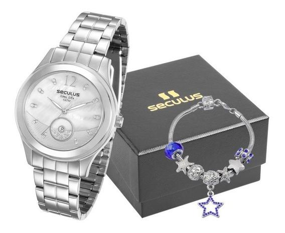 Kit Relógio Feminino Seculus 23522l0svna2 Promoção