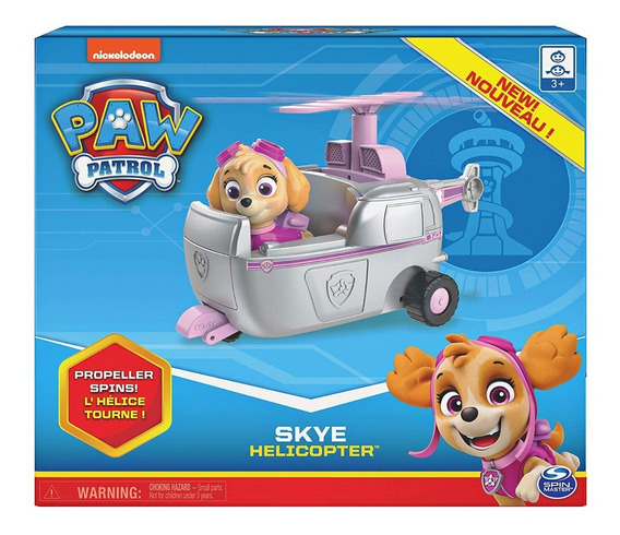 Paw Patrol Skye Helicóptero Original Nickelodeon