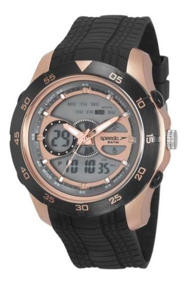 Relógio Speedo Com Caixa Preta E Cobre E Pulseira Preta