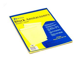 Block Amarillo Anotaciones Carta Rayado 50h Norma