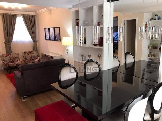 Casa Com 3 Dormitórios À Venda, 101 M² Por R$ 561.000 - Jardim Santa Cândida - Campinas/sp - Ca13873