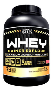 Whey Gainer Explode 1,6kg Anabolic Labs - Morango
