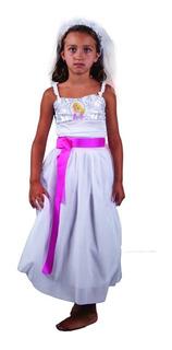 Disfraz Barbie Novia New Toys Vestido Educando