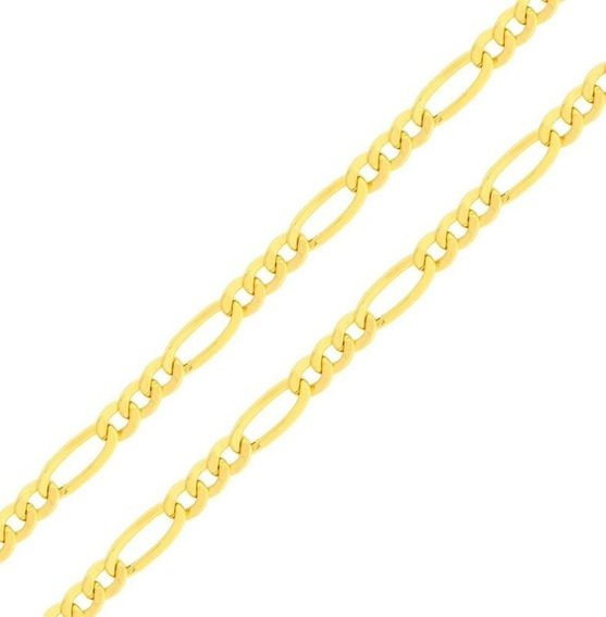 Corrente Cordão 3x1 Grumet 60cm Masculino Ouro 18k