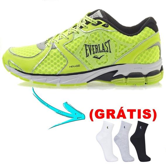 Tênis Pisante - Everlast Mirage Verde/preto + Meia( Grátis )