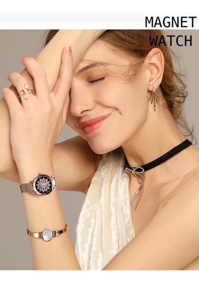 Lindo Relógio Feminino Pulseira Magnética