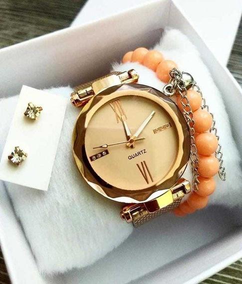 Kit Relógio Luxo Feminino