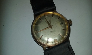Reloj Antiguo Renis 25 Rubis Enchapado En Oro Calendario