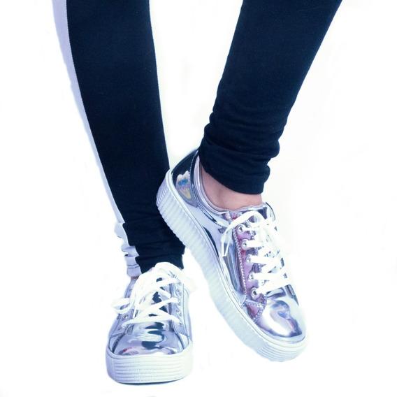 Zapato Zapatilla Mujer Espejo Sneaker Urbana Moda