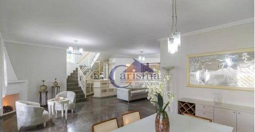 Imagem 1 de 30 de Sobrado Com 5 Dormitórios, Sendo 3 Suítes, 361 M² - Venda Por R$ 2.000.000 Ou Aluguel Por R$ 10.000/mês - Campestre - Santo André/sp - So0470