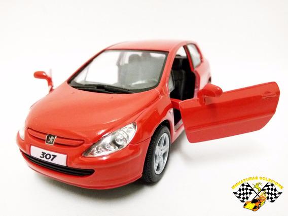 Miniatura Peugeot 307 Xsi Vermelho Kinsmart 1:32