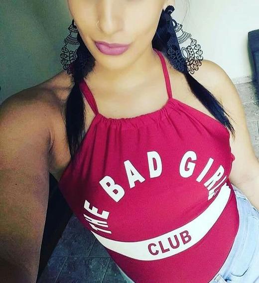 Body Branco E Cereja The Bad Girls Com Bojo Tam Único