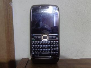Celular Nokia E71-3 Cromado - 3mp C/ Flash Op Claro - Usado