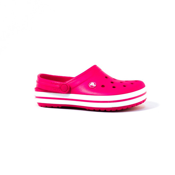 Zueco Crocs Crocsband C-11016-604 Fucsia Y Blanco