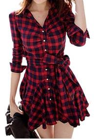 Vestido Xadrez-roupas Femininas Pronta Entrega