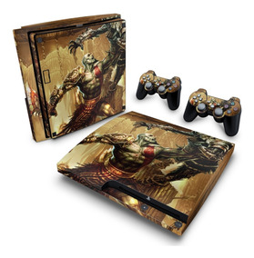 Skin Ps3 Slim Adesivo Playstation 3 God Of War 3 #1