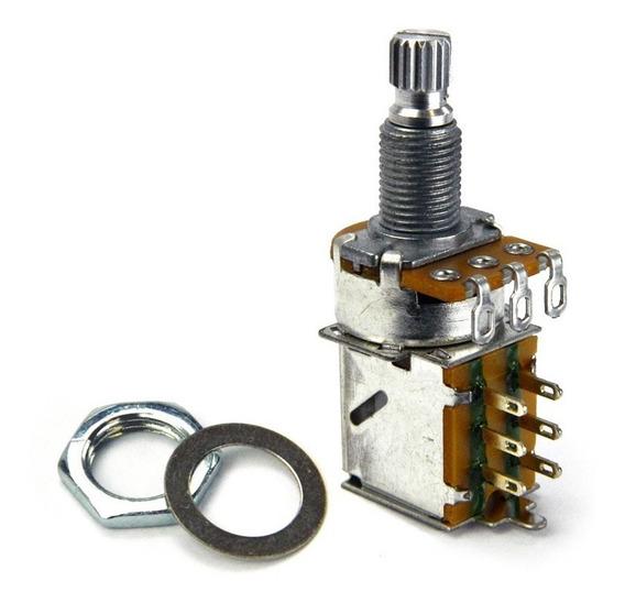 Potenciômetro Santo Angelo Push Pull B500k Eixo Longo Ac0539