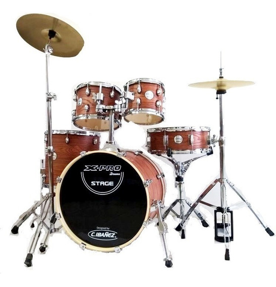 Bateria Acustica Xpro Stage Banco Pedal 2 Tom Bumbo 18