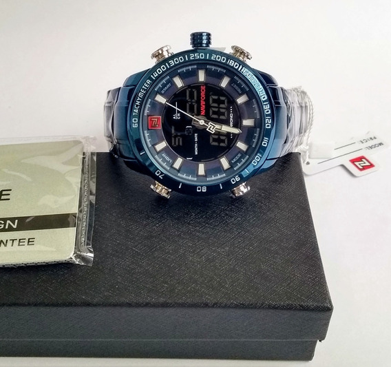Relógio Naviforce Original Aço Inoxidável Azul