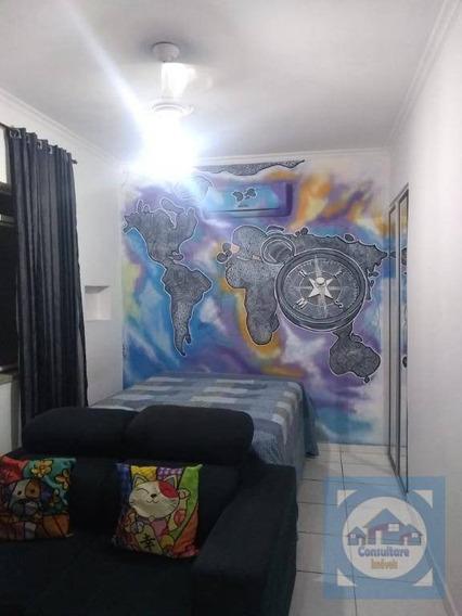 Kitnet Com 1 Dormitório Para Alugar, 30 M² Por R$ 1.350,00/mês - Embaré - Santos/sp - Kn0614