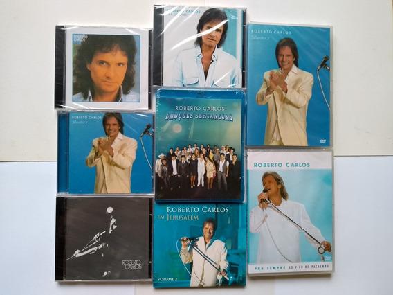 Cd Roberto Carlos Kit 14 Cds+ 2 Dvds+ 1 Blu Ray Lacrados