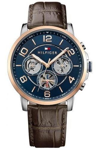 Relógio Tommy Hilfiger Couro Marrom Masculino - 1791290