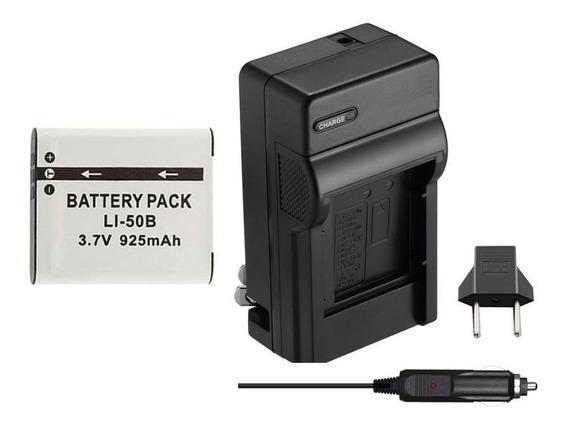 Bateria + Carregador P/ Olympus Sz-10 Sp-800 Uz Tg-610 Xz-1