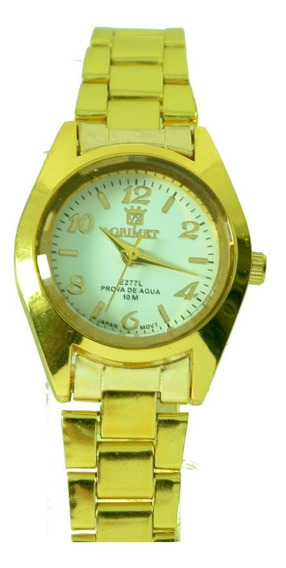 Relógios Feminino Dourado Varias Cor Orinet Pequeno Lindos.