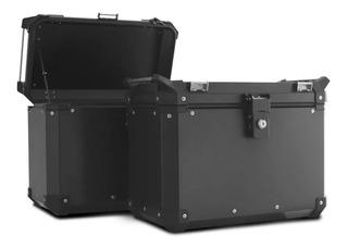 Bau Moto Bauleto 33 Litros Roncar Traseiro Alumínio - Par
