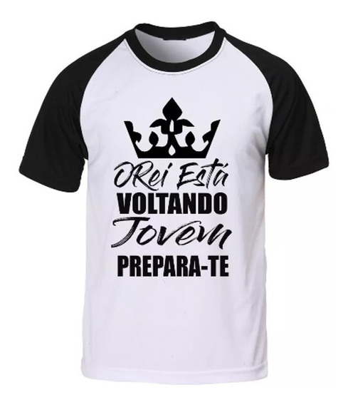 Camiseta Gospel O Rei Está Voltando
