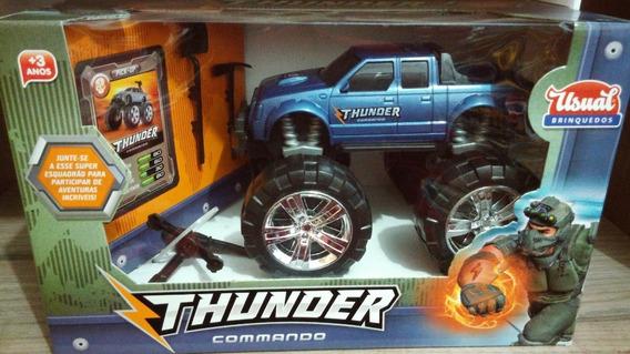 Pick-up Thunder Commando Azul - Usual Brinquedos