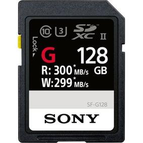 Cartão Sdxc 128gb 4k Sony Uhs-ii U3 Série G 300mb/s Classe10