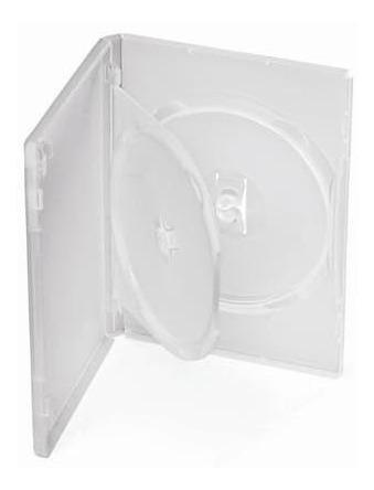 150 Box Dvd Duplo Transparente (frete Grátis)