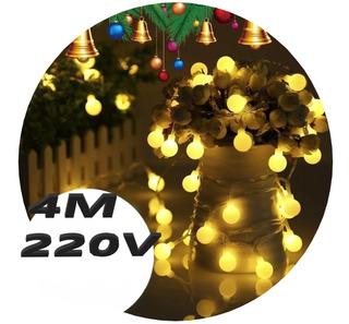 Guirnalda Luces Led 28 Bolitas 4 Metros 220v Navidad