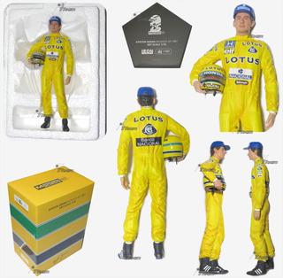 Ayrton Senna Estatua Monaco Gp 1987 Edcion Limitada Esc 1:10