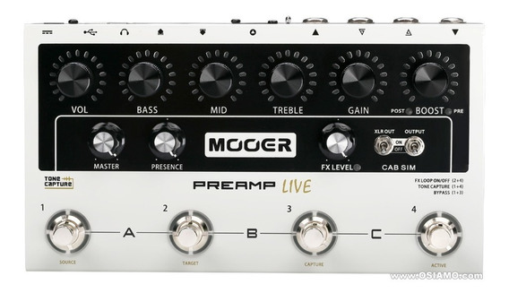 Pedal Mooer Preamp Live + Nf Promoção